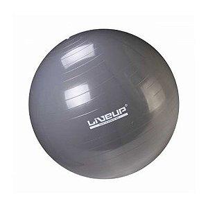 Bola de Pilates 65cm Cinza - Premium - Liveup