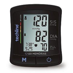 Aparelho Monitor De Pressão Arterial Digital De Pulso Bp2206 Techline