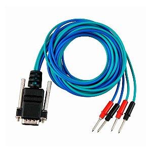Cabo 09 para Eletroestimulação Azul/Verde 2 Vias p/ Neurodyn II/Aussie/Compact - Ibramed