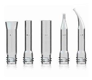 Kit ventosas de vidro facial com 5 peças e estojo organizador - VCTEC