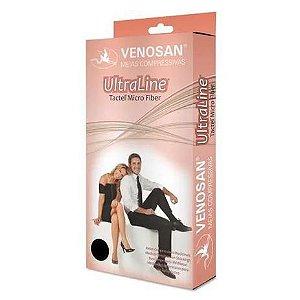 Meia de compressão Meia calça AT  20-30 MMHG pé aberto cor bege Ultraline - Venosan