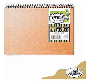 Caderno Sketchbook Kraft Folhas Pretas Merci 40 Folhas 180g