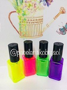 Marca Texto Kit Mini Esmalte com 4 Cores Neon