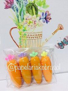 Marca Texto Kit Farm Cenourinha com 4 Cores Neon