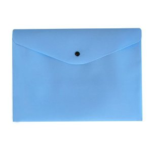 Pasta com Botão Dello A4 Serena Azul Pastel