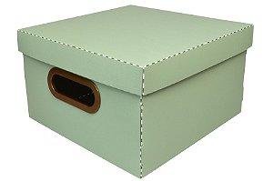 Caixa Organizadora Dello Linho Verde Pistache 25X25X15 cm