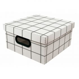 Caixa Organizadora Dello Minimal Branco 29X29X15 cm