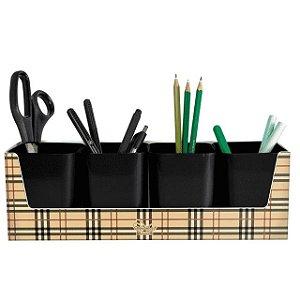Kit Galex Dello com 4 Porta Objetos Preto