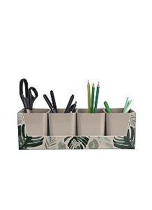Kit Folhagem Dello com 4 Porta Objetos Cappuccino