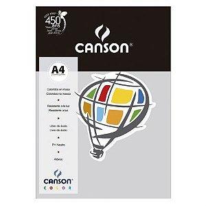 Papel A4 180G Canson Cinza 10 folhas