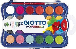 Aquarela Giotto Pastilha com 24 cores + pincel