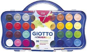 Aquarela Giotto Pastilha com 36 cores + pincel