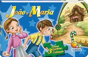 3 Quebra Cabeça João e Maria - Editora Todo