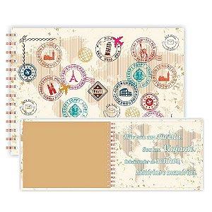 Álbum de Viagem Redoma 40 folhas 20,4x28cm