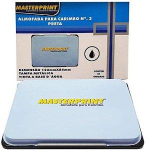 Almofada para Carimbo Masterprint N3 Preto