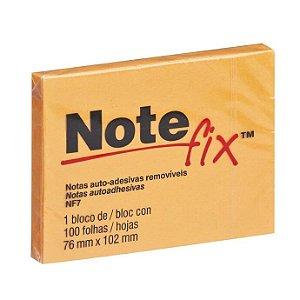 Bloco Adesivo 3M Note Fix 76X102mm Laranja 100 folhas