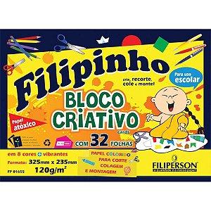 Bloco Criativo 120G Filipinho Colorido 32 folhas