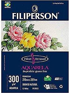 Bloco A4 300G Aquarela Filiperson com 12Fls
