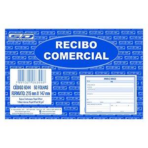 Bloco de Recibo Comercial São Domingos 215x147mm