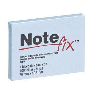 Bloco Adesivo 3M Note Fix 76X102mm Azul 100 folhas