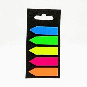 Bloco Adesivo Mj Neon Seta 5 Cores 5.5X11cm