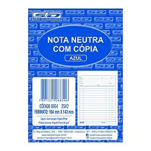 Bloco de Nota Neutra com Cópia São Domingos 104X143mm 25 fol