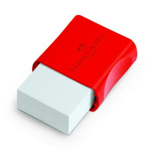 Borracha Faber Castell Tk Capa Vermelho