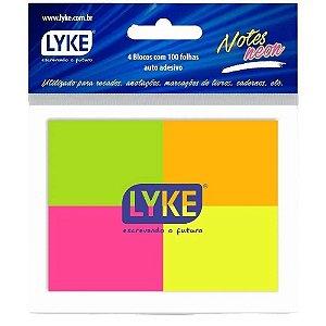 Bloco Adesivo Lyke Neon 38mmx51mm com 100 folhas