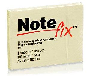 Bloco Adesivo 3M Note Fix 76X102mm Amarelo 100 folhas