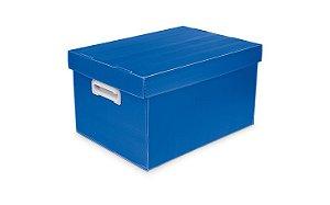 Caixa Organizadora Polibras M 212X280X370 mm Azul