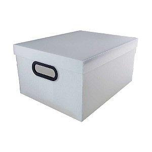 Caixa Organizadora Dello Linho 380X290X185 mm Cristal 20,39L