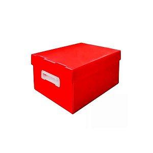 Caixa Organizadora Polibras M 212X280X370 mm Vermelho