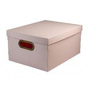 Caixa Organizadora Dello Linho 380X290X185 mm Rose 20,39L