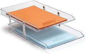 Caixa de Correspondência Waleu Dupla Móvel Cristal