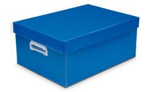 Caixa Organizadora Polibras P 180X255X335 mm Azul