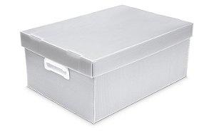 Caixa Organizadora Polibras P 180X255X335 mm Cristal