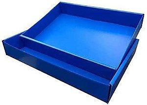 Caixa de Camisa Polibras Azul