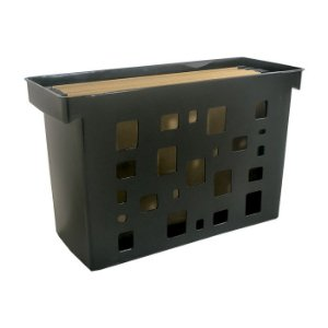 Caixa de Arquivo Dello Preto com 6 Pastas Suspensa