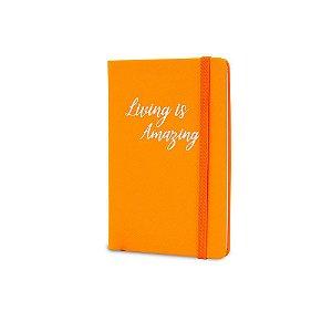Caderno de Anotações Maxprint Living is Amazing Laranja Neo