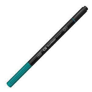 Caneta Cis Dual Brush Verde Jade