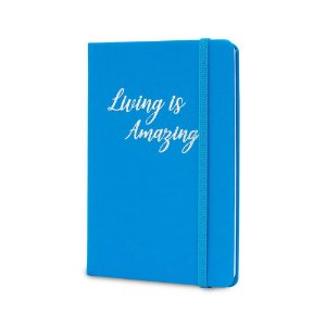 Caderno de Anotações Maxprint Living is Amazing Azul Neon