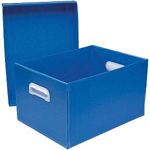 Caixa Organizadora Polibras G 240X310X437 mm Azul