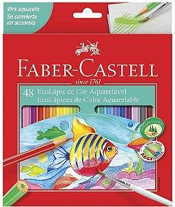 Lápis de Cor Faber Castell Aquarelável com 48 Unidades