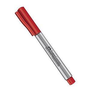 Marcador Faber Castell Multiuso Permanente Vermelho