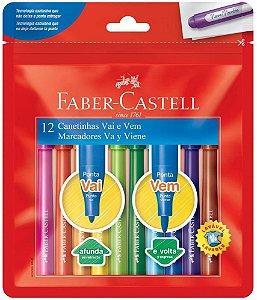 Hidrocor Faber Castell Vai E Vem com 12 Unidades