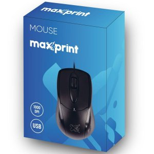 Mouse Maxprint Ótico Usb Preto