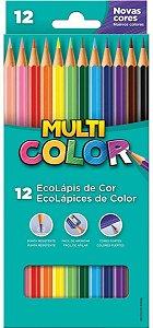 Lápis de Cor Faber Castell Multicolor Super com 12 Unidades