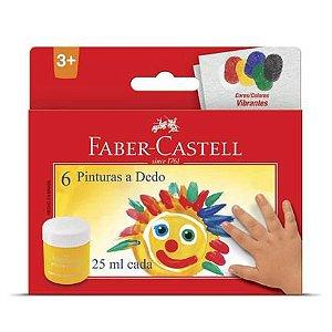 Pintura a Dedo Faber Castell com 6 Unidades