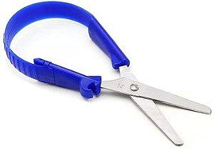 Tesoura Faber Castell Vai E Vem Azul 12cm