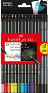 Lápis de Cor Faber Castell Super Soft com 12 Unidades